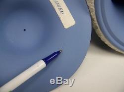 12 Wedgwood Blue Jasperware Pedestal Campana Urn Mint Conditon