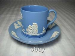 15 Piece Wedgwood Jasperware Tea Set Teapot Creamer & Sugar 6 Cups & Saucers