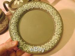 1700s WILSON jasperware plate antique english art vtg porcelain staffordshire