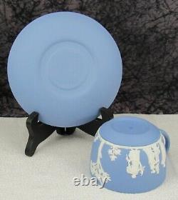 (18) Pc. Vintage Wedgwood Blue Jasperware Jasper Dip Tea Set
