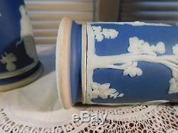 1800's Portland Jasper ware Column Spill Vases Antique Porcelain