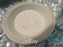 1864 Wedgwood Pottery Trumpet Vase Dish Trinket (S) 3 1/2 Blue Jasperware