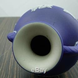 1870 Antique Wedgwood Jasperware Portland Vase In Cobalt Blue 5