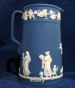 19th Century Wedgwood 7 1/2 Jasperware Jug or Pitcher