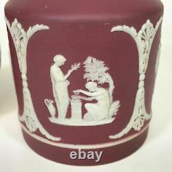 19th Century Wedgwood Crimson Jasperware Tea Caddy