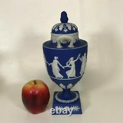 19th Century Wedgwood Dark Blue Jasper Dancing Hours Urn