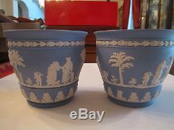 2 Vintage Wedgwood Jasperware Matching Light Blue Bowls 5 X 4 1/2 Lot F