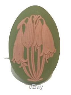 25% OFF! Wedgwood FLORAL Jasper EGG BOX UNIQUE Pink Green Jasperware