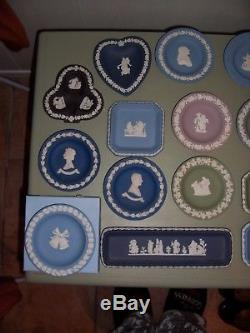 28 Wedgwood jasperware Pin dishes including Concorde in excellent condition