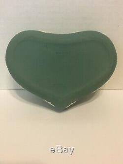 40% Off! Very Rare Huge Wedgwood Teal Jasperware Heart Shaped Box