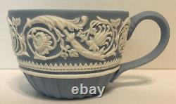 60% OFF! RARE Arabesque Wedgwood Ornate Blue And White Relief 250th Ann. Cup