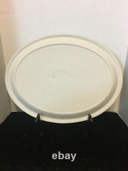 60% OFF VERY RARE! HUGE Wedgwood REVERSE Blue On White Large Oval Tray Mint