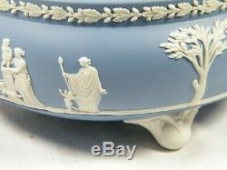 A Wedgwood Blue Jasper Ware Tri Footed Bowl exceptionally rare and with no use