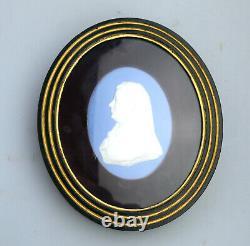 A good antique Wedgwood framed Jasperware Portrait Miniature Medallion C. 1820