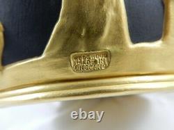 Absolutely Stunning Super Rare Basalt and Gold Wedgwood Portland Vase