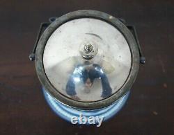 Antique Adams Tunstall Cobalt Blue Jasperware Lidded Biscuit Jar Wedgwood 10