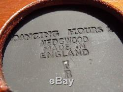 Antique Black Wedgwood Jasper Ware Jasperware Framed Plaque China Porcelain