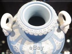 Antique Circa 1910 Wedgwood Jasperware Dancing Hours Covered Urn with Pan Handles