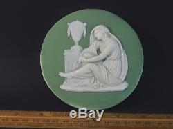 Antique Sage Green Wedgwood Jasperware Medal Plaque All Capitals 18th / 19th C