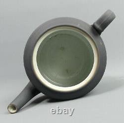 Antique Wedgwood Black Jasper Dip Pottery Teapot C. 1936