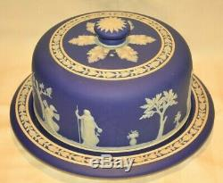 Antique Wedgwood Cheese Dome Cake Plate & Cherub Lid Cover Original 2 Piece Set