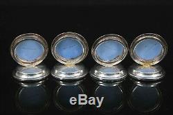 Antique Wedgwood Chester Silver Blue Jasper Ware Menu Holders Circa 1906