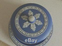 Antique Wedgwood Classical Roman Blue Jasper Cheese Dome And LID Victorian