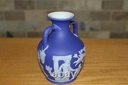 Antique Wedgwood Cobalt Blue Jasper Ware 5 Portland Vase (c. 1840)