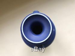 Antique Wedgwood Cobalt Blue Jasper Ware Jasperware 6 Muses Trophy Vase