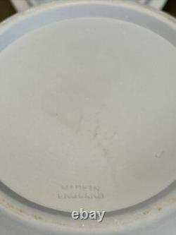 Antique Wedgwood Cobalt Blue Jasperware Acorn Biscuit Cookie Tobacco Jar Scarce