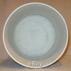 Antique Wedgwood Dark Blue Jasperware Large Footed Cache Pot