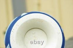 Antique Wedgwood Deep Blue Jasperware vase England