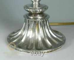 Antique Wedgwood Green Jasper & Silver Mount Table Lamp