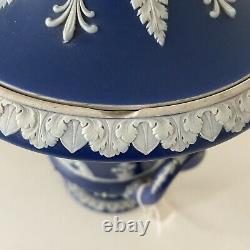 Antique Wedgwood Jasperware Campana Urn Portland Blue (Dark Blue)