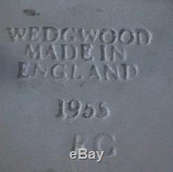 Antique Wedgwood Jasperware Large Brooch Pin 1 Sterling Silver 1955 Blue