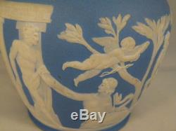 Antique Wedgwood Jasperware Portland Vase Light Blue 7.5 inches tall
