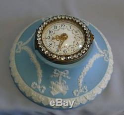 Antique Wedgwood Jasperware wall clock with brilliants