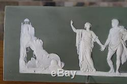 Antique Wedgwood Olive Green Jasper Ware The Choice of Hercules Plaque