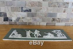 Antique Wedgwood Olive Green Jasper Ware The Choice of Hercules Plaque (c. 1870)