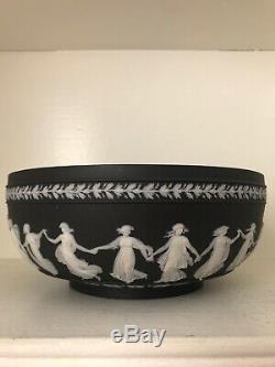 Antique Wedgwood Solid Black Jasperware Dancing Hours 10 Bowl C 1866-1891