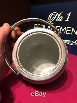 Antique Wedgwood Tri Colour Lilac Green White Jasperware Biscuit Barrel Jar RARE