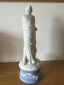 Beautiful Vintage Wedgwood Classical Muses Jasper Ware Ltd Ed Figure Polymnia
