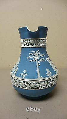 Beautiful Vintage Wedgwood Jasperware Medium Blue 7 Pitcher