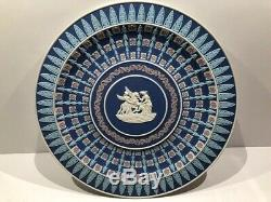 C. 08 Wedgwood FOUR-COLOUR TURQUOISE Jasperware Trophy Plate AURORA MINT
