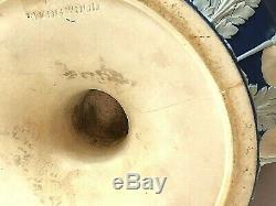 C. 1820 RARE WEDGWOOD COBALT BLUE JASPERWARE CAMPANA URN 15.50 x 10.5 NICE