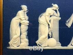 C. 1840WEDGWOOD JASPERWARE APOLLO & MUSES PLAQUE 18 x 6 MINT-STUNNING RARE