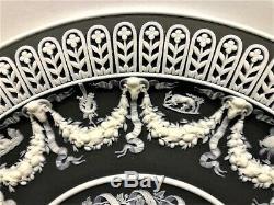 C. 1867 Wedgwood BLACK Jasperware Trophy Plate BELLEROPHON WATERING PEGASUS