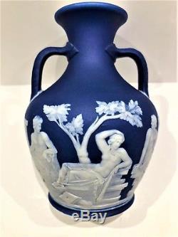 C. 1867 Wedgwood Cobalt Blue Dip JasperWare 5 Portland Vase CODE V SCARCE