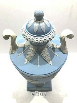 C. 1873 Wedgwood Pale Blue Jasperware Campana Urn 8.0 Code B Very Nice