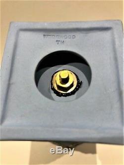 C. 1890 Wedgwood Blue Jasperware Pedestal #174 Urn N/Lid 5.50H MINT NICE